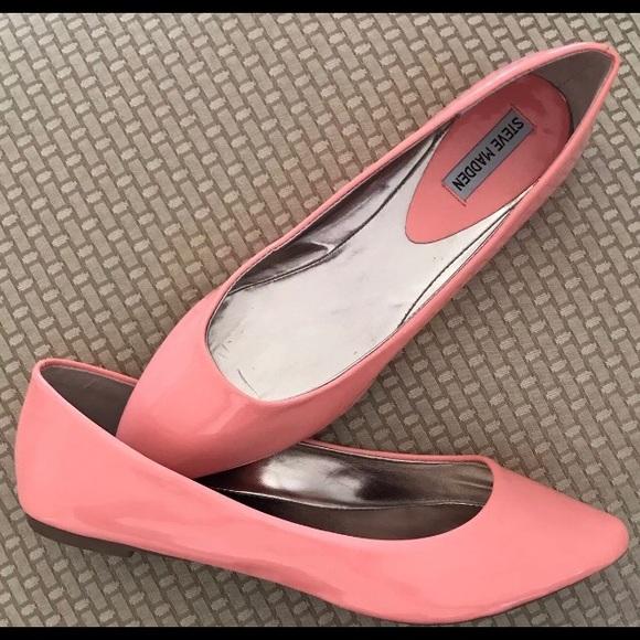 badb8e8a1 Steve Madden Shoes   Ibiza Patent Coral Pink Sz 95m   Poshmark
